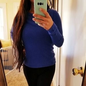 Talbots Royal Blue Pure Cashmere Crew Sweater